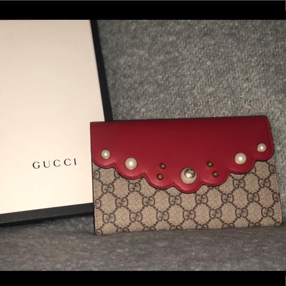 408ad436eb0 Gucci Bags | Supreme Monogram Mini Clutch | Poshmark